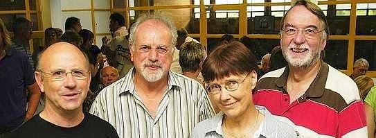 Sie prägten mehrere Schülergenerationen: Winfried Steinhoff, Wolfgang Scheidel, Ursula Hagehülsmann-Wolf und Hans-Dieter Dröge (v.l.) wurden verabschiedet. Foto: Birgit Helmers