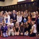 Im Rathaus von Exeter mit dem Bürgermeister.