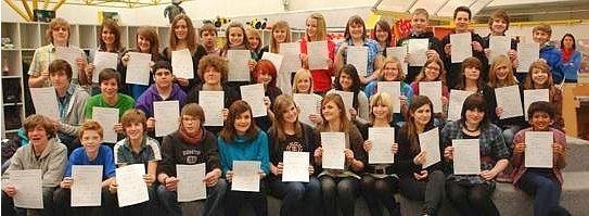 40 GSF-Schüler nahmen an der DELF-Prüfung teil –  wieder alle erfolgreich!