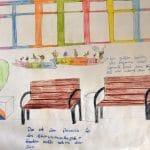 Der Entwurf von Hannah-Sophie Bischoff, Laviniar-Sophie Sud, Franzsika Gajer und Anna Steinmetz wurde ebenfalls mit einem 1. Preis bedacht. Foto: Thekla Hanke