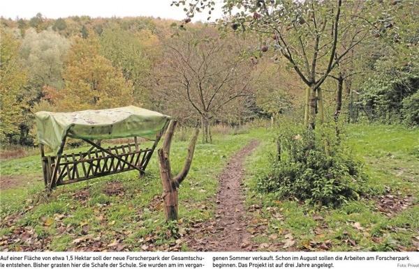 Ein 1,5 Hektar großer Forscherpark