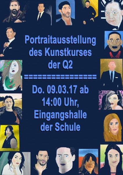 Kunstkurs der Q2 präsentiert Porträts