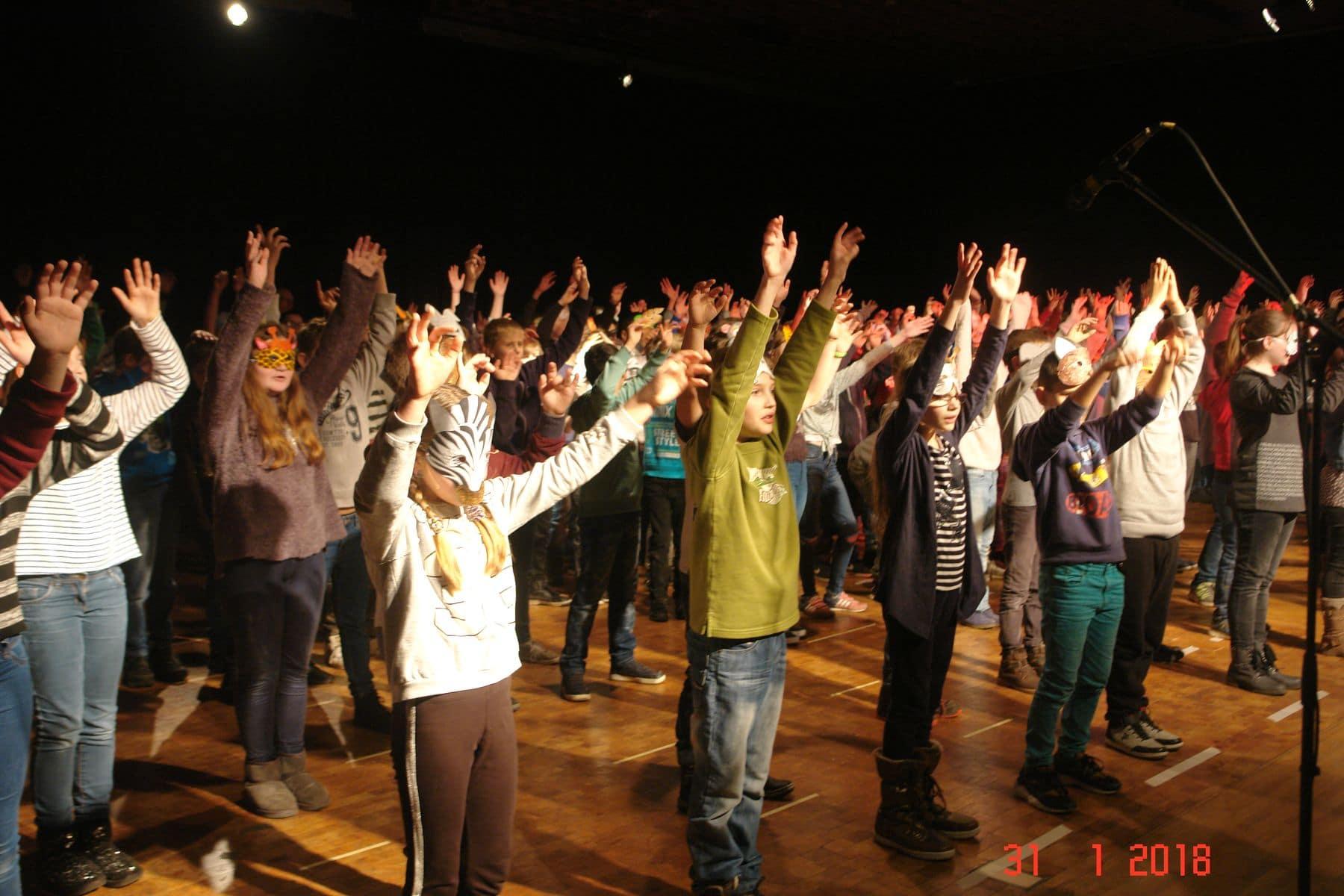 Grundschüler bekommen einen Vorgeschmack auf das GSF-Musical
