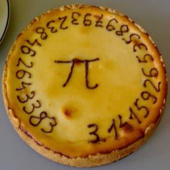 Kuchen mit der Zahl Pi
