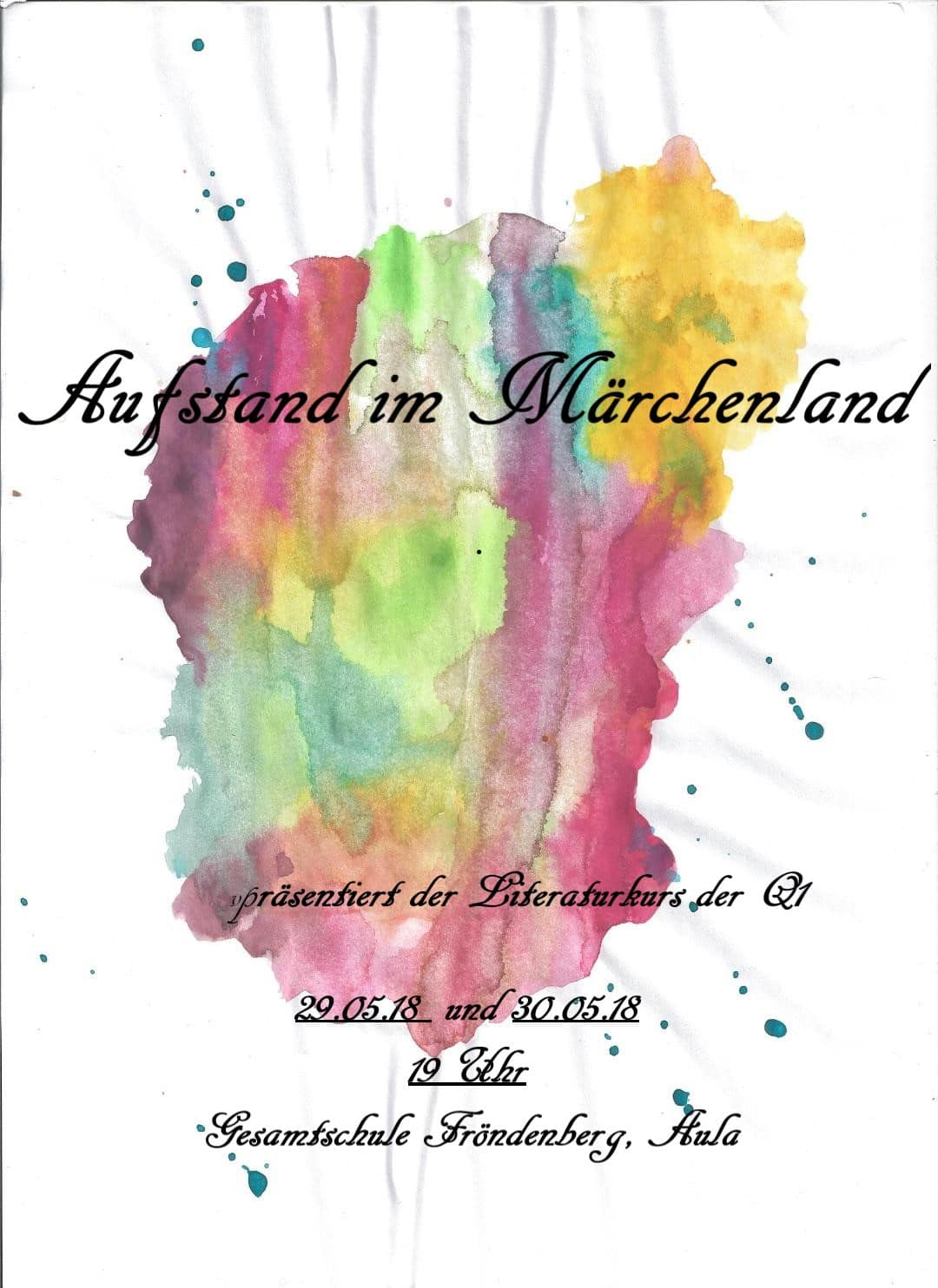 """""""Aufstand im Märchenland"""" – Theaterstück des Literaturkurses Q1"""