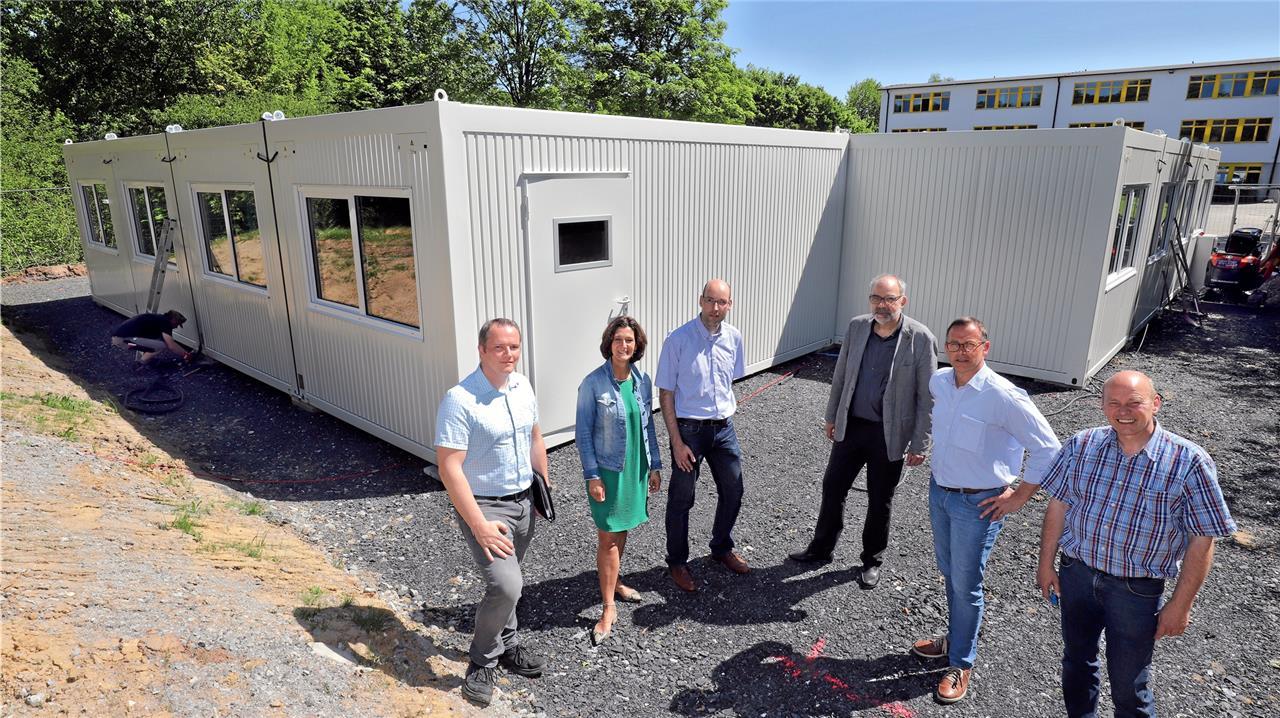 Fröndenberger Schüler lernen in Containern