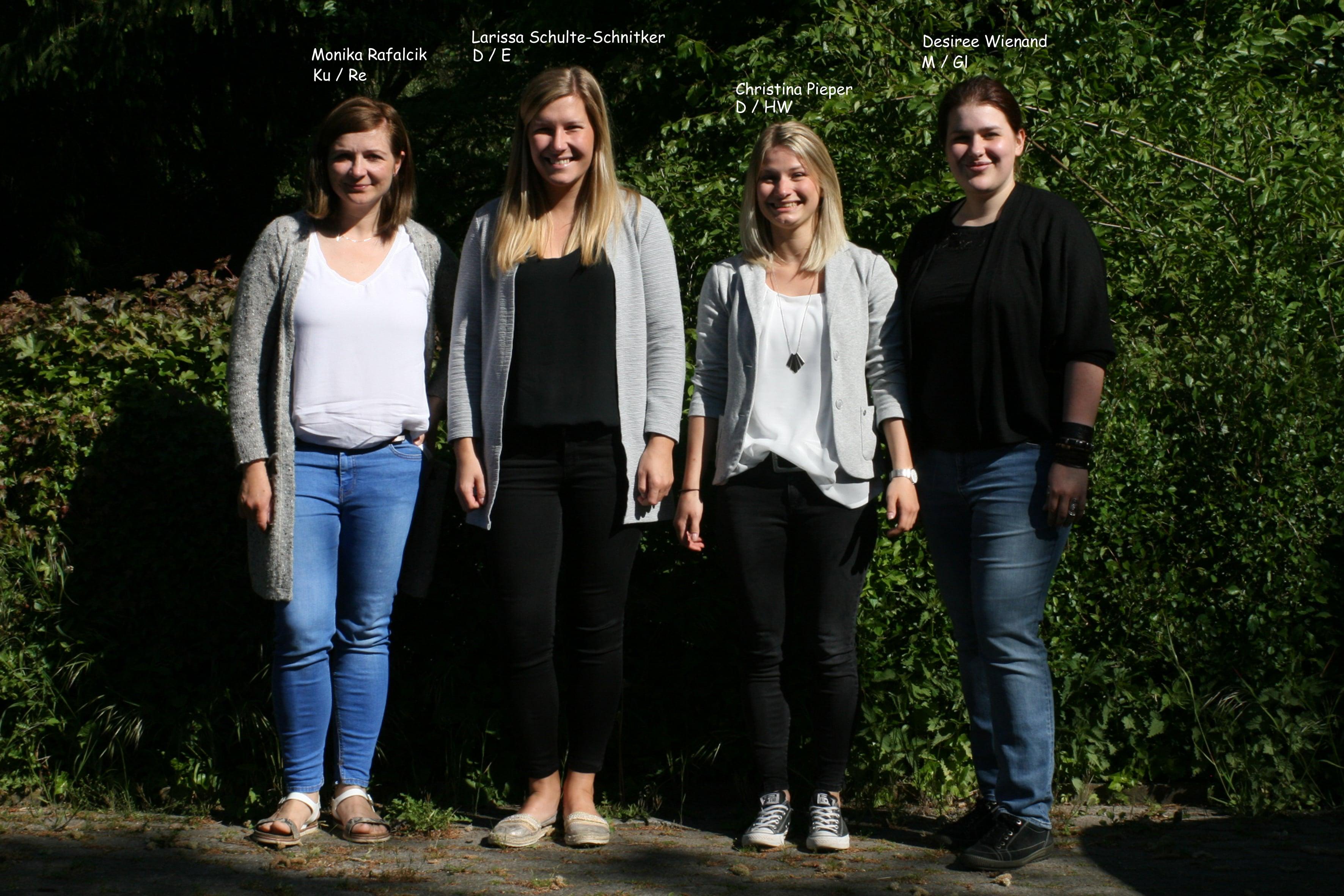 Vier neue Referendarinnen an der GSF