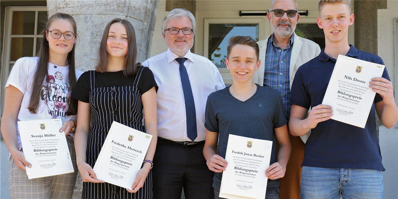 Bildungspreis des Bürgermeisters sorgt für viel Motivation