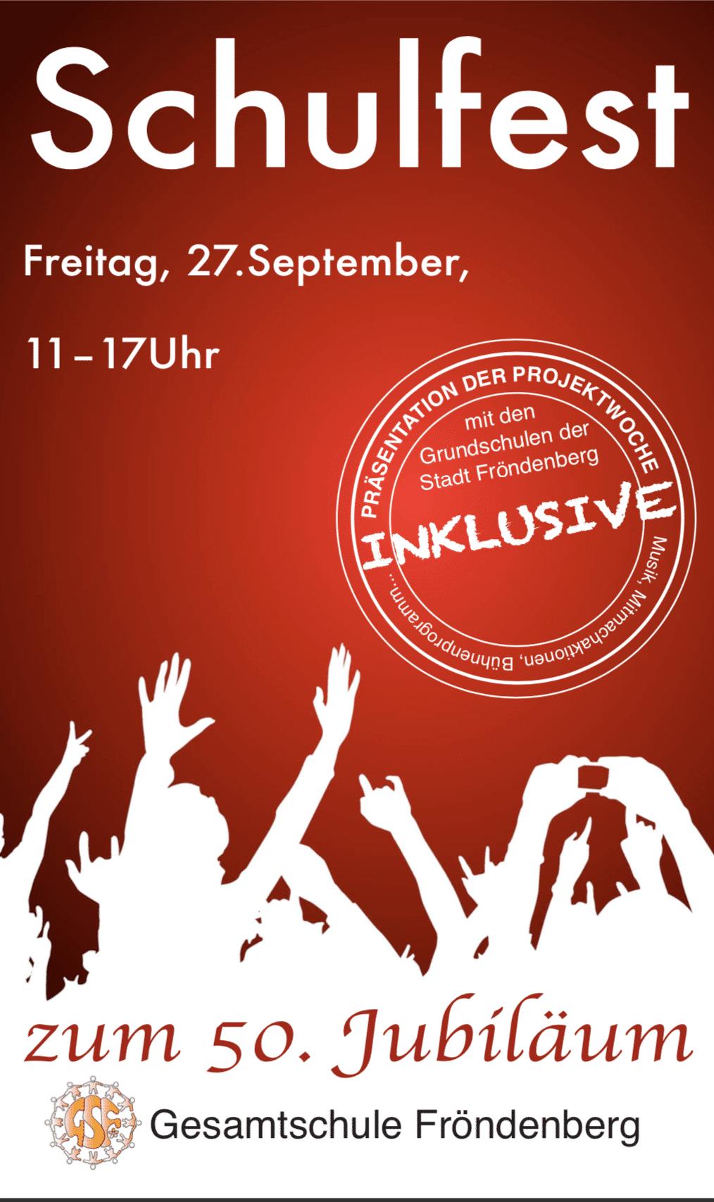 Schulfest am 27.09.2019 von 11.00 – 17.00 Uhr